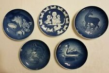 Lot of 5 Vintage B&G Royal Copenhagen blue and white Mothers Day Plates Denmark