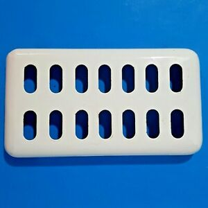 Vintage ViTaRay Gas Space Heater White Enamel Top Piece Quad Stove Mfg