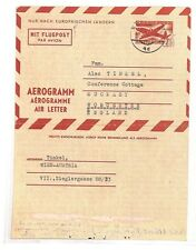 AZ239 Austria Wien Air Letter Worcester GB Cover {samwells-covers}PTS