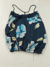 Abercrombie and Fitch blue and white floral print top spaghetti straps sz M
