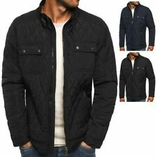 Polyester Hip Length Quilted Coats & Jackets for Men