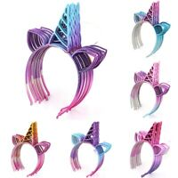 10pcs Glitter Unicorn Horn Hairband Headband Fancy Dress Kids Birthday Party Lyw