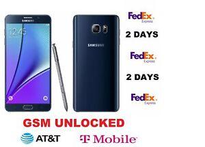 Samsung Galaxy Note5 SM-N920T - 32GB - Black Sapphire T-Mobile GSM UNLOCKED