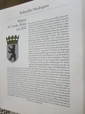Berlin Archive 15 culturel nouveau départ 8000 armoiries du Land de Berlin depuis 1954