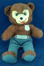 "Vintage 15"" Smokey the Bear plush toy with voice box: knickerbocker 1960's"