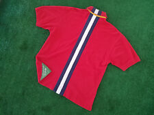 VTG Tommy Hilfiger Sailing Gear Flag Patch Spellout Polo Rugby Shirt Vintage 90s