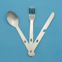 New Sport Fork Spoon Eating Utensil Stainless Steel Camping Cutlery Set New*`