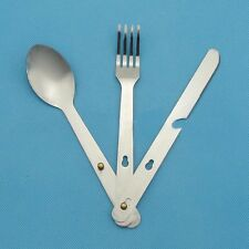 New Sport  Fork Spoon Eating Utensil Stainless Steel Camping Cutlery Set Gift