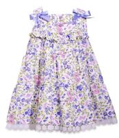NWT BONNIE JEAN GIRLS FLORAL TIERED DRESS & BLOOMERS SIZE 18 MONTHS MSRP $50.00