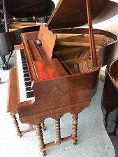 Antique Apollo Wurlitzer Baby Grand Piano Pianodisc Cd Player W/ Yamaha Bench