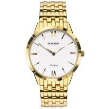 Sekonda 1610 Gents Gold Plated White Dial Bracelet Watch RRP £59.99