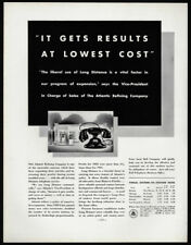 1933 Vintage Print Ad 30's BELL TELEPHONE SYSTEM black phone image long distance