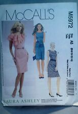 McCall's M5972 ladies sewing  pattern  sizes 6-14 Dress Laura Ashley New