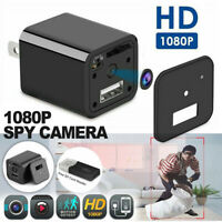 1080P HD Hidden Camera USB Wall Charger Adapter Video Recorder Security Cam US