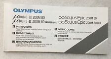 OEM Olympus Infinity Stylus Epic mju: II Zoom 80 80DLX Quartz Date Instructions