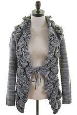 KENAR Womens Cardigan Sweater Size 10 Small Grey Acrylic Nylon