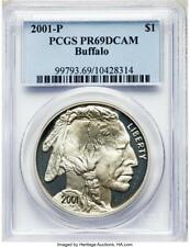 2001-P - Silver American Buffalo Commemorative Dollar - PCGS- Proof-69 DCAM