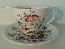 """ STAFFORDSHIRE English China TEA CUP IRONSTONE "" Bouquet "" FLORAL bone china"
