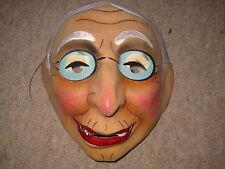 Sehr alte franz. Faschingsmaske a. Pappe Fasnacht Maske carnival mask fasnet