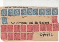 Germany 1923 Inflation Official Stamps Cover ref 22922