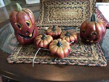 Fall Halloween Thanksgiving Pumpkin Decor. 6 pcs Including 4 napkin holders-NEW