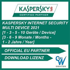 Kaspersky Internet Security 2020 / 2021 1PC 3PC 5PC 10PC / Geräte 1 / 2 Jahre