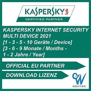 Kaspersky Internet Security 2021 1PC 3PC 5PC 10PC / Geräte 1 / 2 Jahre 2020