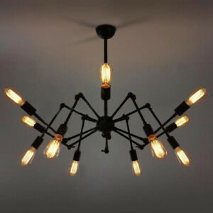 Retro Vintage Modern Pendant Lights Hanging Ceiling Shade Industrial Spider Lamp