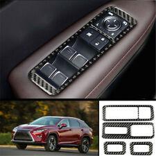 For Lexus RX300 270 450H 16-20 Carbon fiber Window lift panel switch cover trim