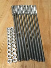 NOS Lot of 10 Aluminum Gutter Rods & Nuts