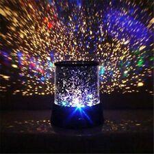 Lava Lamp Night Light Liquid Motion Silver Retro Vintage Base Blue LED Projector