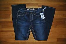 NWT Womens SEVEN 7 Boot Cut Reborn Dark Wash Denim Jeans Pants Sz 8