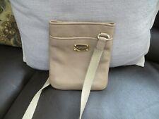 Michael Kors BEIGE/TAN Leather Cross-body Swing-pack Bag PREOWNED
