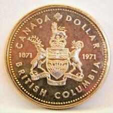 CANADA 1871-1971 British Columbia silver $1 commemorative Dollar; PROOF
