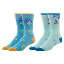 Sonic The Hedgehog Sega Video Game Adult 2 Pack of Casual Crew Socks