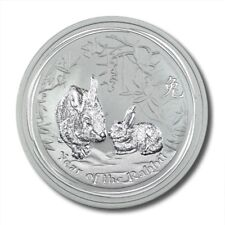 Australia Year of the Rabbit $1 2011  1 oz .999 Silver Coin BU
