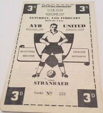 Ayr Scottish Cups Home Teams A-B Football Programmes