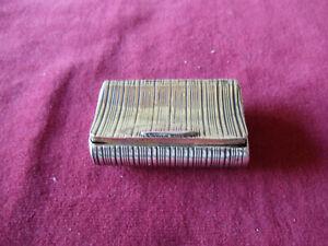 Antique silver snuff box Birmingham 1812