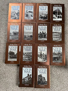 Shelby Foote THE CIVIL WAR, A Narrative COMPLETE SET Vol. 1-14 Time Life Books