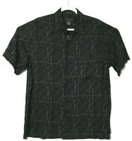 J. Ferrar Rayon Hawaiian Camp Aloha Travel Geometric Shirt Mens Size Large 16