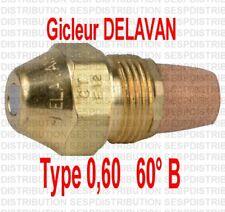 Gicleur fioul fuel 0,60 0,60° B  marque DELAVAN chaudière fioul nozzle