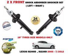 FOR LEXUS IS200D IS220D 2005-2012 2x FRONT LEFT RIGHT SHOCK ABSORBER SHOCKER SET