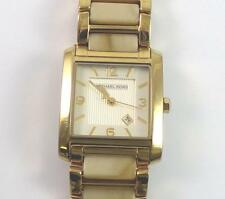 Michael Kors Stainless Steel Gold Tone and Horn Band Lady's Watch MK-4251 QX