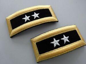 A8-154 US Rangabzeichen MAJOR General Shoulder Straps 2 Sterne