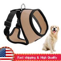Adjustable Pet Puppy Harness Breathable Soft Mesh And Leash Set Vest Chest Strap