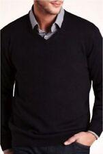 Marks and Spencer Men's Medium Knit V Neck Cashmere Jumpers & Cardigans