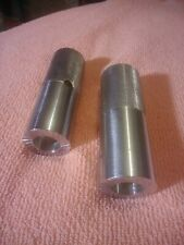 "2 Chrome/Steel BMX Bicycle Pegs. Freestyle.Old School 4 3/8"" L 1 1/2""W"