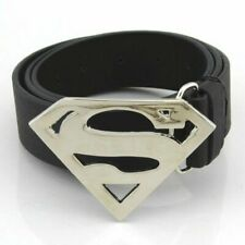 New Silver Superman Logo Belt Buckle Cut out