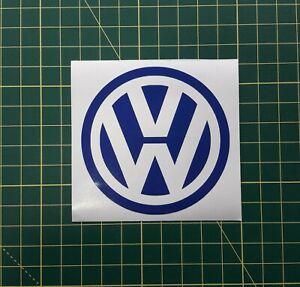 2 X VW Car Decal Vinyl Sticker size 7.5 X 7.5 cm ( 2 x BLUE Colour )