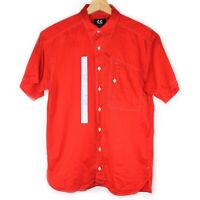 Authentic Vintage Kansai Yamamoto Button Up Red Shirt Japanese Men's Size 2